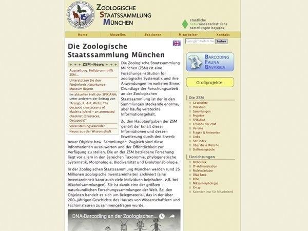 zoologische staatssammlung muenchen