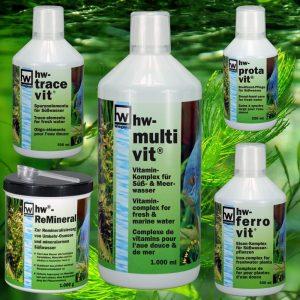 hw Pflege- und Wasserzusätze für Süßwasser | hw Care and water additives for fresh water