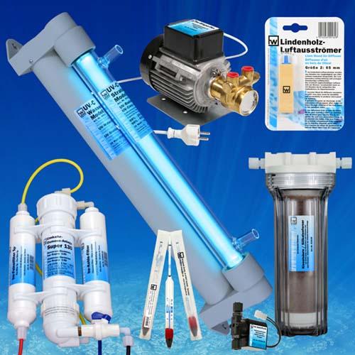 hw Technik, hw-UV-Wasserklärer, hw-Umkehr-Osmose-Anlagen, hw-Dichtemesser,